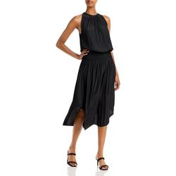Audrey Sleeveless Halter Drop Waist Midi Dress - Black - Ramy Brook Dresses