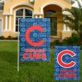 """""""Chicago Cubs 18'' x 12.5'' Double-Sided Glitter Suede Garden Flag"""""""