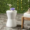 Safavieh Outdoor Collection Torre Modern Concrete Ivory 17.3-inch Accent Table