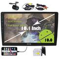 New Double 2 din Android Car Stereo 10.1 inch Full Touch Screen GPS Navigation System in Dash No DVD Player Bluetooth Car Radio Subwoofer Video Output Mirrorlink WiFi Headunit + Wireless Backup Camera