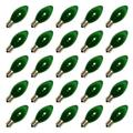 Vickerman 00023 - C9 Intermediate Screw Base Transparent Green (25 pack) Christmas Light Bulbs (V472134)