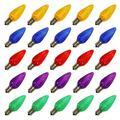 Vickerman 00918 - C9 Intermediate Screw Base Multi-Color LED (25 pack) Christmas Light Bulbs (XLEDC90-25 25/PK)