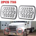 2Pcs 5x7 7x6 Rectangular LED Headlight Assembly H4 Plug for Trucks Sealed Hi/Lo Beam for International IHC 9200 9900 9400i - 2 Year Warranty