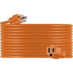 UltraPro, Orange, GE 50 Foot Extension, 16AWG, Indoor/Outdoor Use, Extra Long Power Cord, UL Listed, 51926, 50 ft, 50 Ft