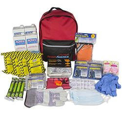 Ready America 70380 72 Hour Emergency Kit, 4-Person, 3-Day Backpack, Includes First Aid Kit, Survival Blanket, Portable Preparedness Go-Bag for Camping, Car, Earthquake, Travel, Hiking, and Hunting