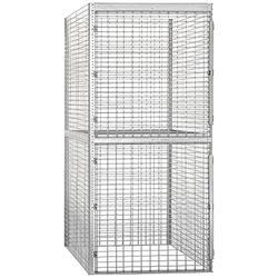 Salsbury Industries Bulk Storage Locker Double Tier Starter, 48-Inch, 60-Inch