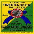 "Buyenlarge 0-587-23319-2-P1218 Flashlight Firecracker Salutes Blue Ribbon Brand Paper Poster, 12"" x 18"""