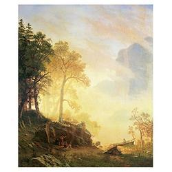 "Global Gallery Art on a Budget DP-133303-36 Albert Bierstadt Merced River in Yosemite Unframed Giclee on Paper Print, 36"" x 29 7/8"""