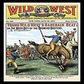 """Buyenlarge 0-587-15467-5-P1218 Wild West Weekly: Young Wild West's Bareback Beat Paper Poster, 12"""" x 18"""""""