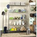 """Safavieh Home Collection Christian Chrome Premium 63"""" Wire Single Rod Clothes Rack"""