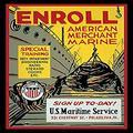 "Buyenlarge 0-587-20368-4-P1218 Enroll American Merchant Marine Paper Poster, 12"" x 18"""
