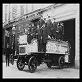 """Buyenlarge 0-587-19577-0-P1218 New York City Firemen Posed on A Fire Engine Paper Poster, 12"""" x 18"""""""