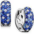 Shades Of Sapphire Hoop Earrings (2-3/4 Ct. T.w.) In Sterling Silver - Blue - Effy Earrings