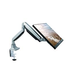 """TechOrbits Monitor Mount Stand - SmartSWIVEL - Computer Screen Desk Mount Arm - Full Motion Swivel Articulating Gas Springs - Universal Fit for 13"""" - 30"""" Screens Vesa Mount"""