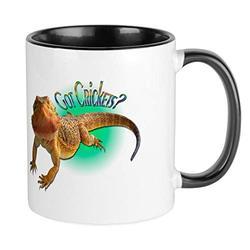 CafePress Bearded Dragon Got Crickets 5 Mug Unique Coffee Mug, Coffee Cup