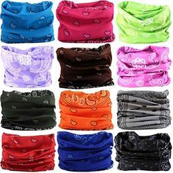DEMIL 6PCS/8PCS/12PCS Seamless Headband camo Bandanas Headwear for Men&Women Neck warmer Scarf 16-in-1 Multifunctional for Neck Gaiter (12pcs-A8)