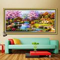 5D DIY Dream Home Crystal Full Diamond Rhinestone Painting By Number Cross Stitch Kit Embroidery Craft Home Decor (48'' x 24'', 120cm x 60cm)