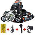 Headlamp,Brightest and Best LED Headlamp 8000 Lumen flashlight - IMPROVED LED, Rechargeable 18650 headlight flashlights, Waterproof Hard Hat Light, Bright Head Lights, Running or Camping headlamps