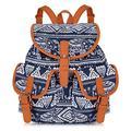 VBG VBIGER Canvas Backpack for Women Girls Cloth Backpack Purse Casual Daypack Travel Daypack School Bag Bohemian Backpack boho Backpack Elephant Blue
