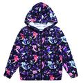 Jxstar rain Kids Jacket Nautica Jackets School Jackets Windbreakers Descendants Clothes Zipper Sweaters Starry Mermaid 120