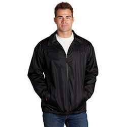 Black Jackets for Men | Windproof Lightweight Windbreaker Shell Jacket for Men | NY Style Jackets | Cheap Jackets for Men | Men's Black Windbreaker Jacket (Black, Large) - éb79