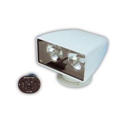 Jabsco 60010-2012 Marine 255SL Remote Control Marine Halogen Dual Bulb Searchlight, 200000CP, Joystick Control, 12 Volt, 10 Amp