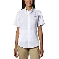 Columbia Women's Tamiami II Short Sleeve Shirt, 1X, White
