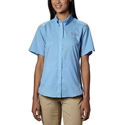 Columbia Women's Tamiami II Short Sleeve Fishing Shirt (White Cap, X-Small)