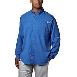 Columbia Men's PFG Tamiami II Long Sleeve Shirt , Vivid Blue, Large
