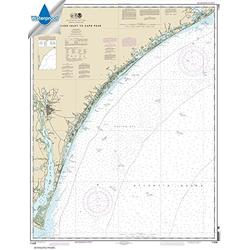 NOAA Chart 11539: New River Inlet to Cape Fear 34.4 x 44.5 (Waterproof)