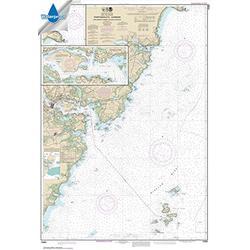 Paradise Cay Publications, Inc. NOAA Chart 13283: Portsmouth Harbor Cape Neddick Harbor to Isles of Shoals; Portsmouth Harbor 33.7 x 48.7 (Waterproof)