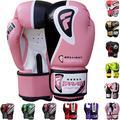 Farabi Sports Boxing Gloves Training Punching Bag Kick Boxing Muay Thai Bag Gloves (BRLT Pink, 16-oz)