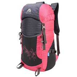 Mozone Large 45l Lightweight Travel Backpack/foldable & Packable Hiking Daypack (Pink)