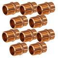 """PROCURU 1-1/2"""" Copper Male Adapter C x M (Sweat x MNPT), Lead Free Certified (1-1/2 Inch (1.5""""), 10-Pack)"""