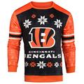 Forever Collectibles NFL Men's Printed Ugly Sweater,Cincinnati Bengals
