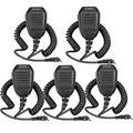 Retevis Speaker Mic for Baofeng UV-5R 888s Kenwood Retevis RT22 RT21 RT19 H-777 H-777S RT15 RT22S RT68 RT27 RT21V RT18 RT1 RT28 RT-5R Arcshell AR-6 Two-Way Radio 2 Pin Shoulder Speaker Mic (5 Pack)