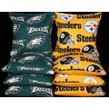 BackYardGamesUSA Corn Hole Bean Bags Made w Pittsburgh Football & Philadelphia Football Fabrics