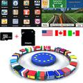 Quanmin Newest GPS Map Card 8Gb SD/TF Card USA Canada Mexico for GPS Navigation Map Updates GPS Software Wince System