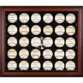 Sports Memorabilia Houston Astros 2017 MLB World Series Champions Mahogany Framed Logo 30-Ball Display Case - Baseball Wall Mountable Display Cases