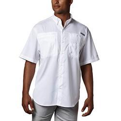 Columbia Men's Tamiami II Short Sleeve Shirt, White, 1X Big