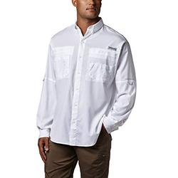 Columbia Men's Plus Tamiami II Long Sleeve Shirt, White - 3X Big