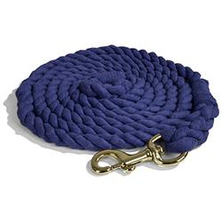 Intrepid International Lead Rope Cotton with Brass Snap Heavy Duty 10-Feet Lead Rope, Navy