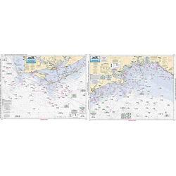 Apalachee Bay/Apalachicola Bay to Cape San Blas - Laminated Nautical Navigation & Fishing Chart by Captain Segull's Nautical Sportfishing Charts   Chart # AA45