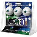 LinksWalker Tulane University Green Wave - 3 Golf Ball Gift Pack with Key Chain Bottle Opener