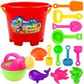 Yiding 3pcs Beach Toy Play Sand Toy for Children Plastic Shovel Toy Sand Mold Hourglass Set Gift