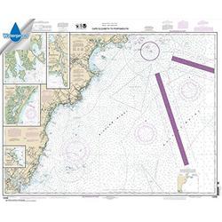 Paradise Cay Publications, Inc. NOAA Chart 13286: Cape Elizabeth to Portsmouth; Cape Porpoise Harbor 35 x 42.4 (Waterproof)
