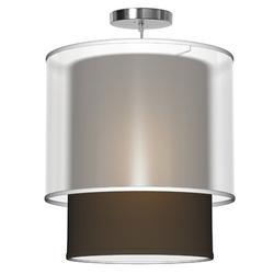 Seascape Lamps Lumiere 1 - Light Single Drum Pendant in Brown, Size 18.0 H x 16.0 W x 16.0 D in   Wayfair SL_LUM16_CHO