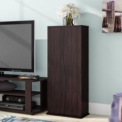 Latitude Run® 198CD/88DVD Multimedia Cabinet Wood/Manufactured Wood in Brown, Size 34.63 H x 15.38 W x 8.25 D in | Wayfair LATT3739 37934724