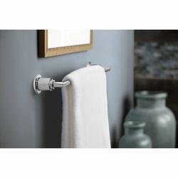 Moen Arris 24 Wall Mounted Towel Bar Metal in Gray, Size 2.0 H x 3.13 D in   Wayfair YB0824CH