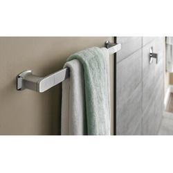 "Moen Via 18"" Wall Mounted Towel Bar Metal in Gray, Size 2.0 H x 20.13 W x 3.0 D in   Wayfair YB5018CH"